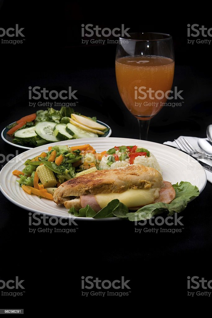 Stuffed Chicken Breast Plate royalty-free stock photo