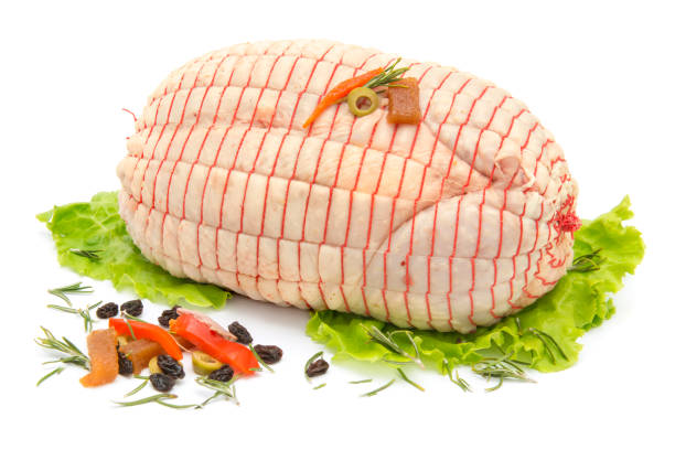 속채운 치킨  스톡 사진