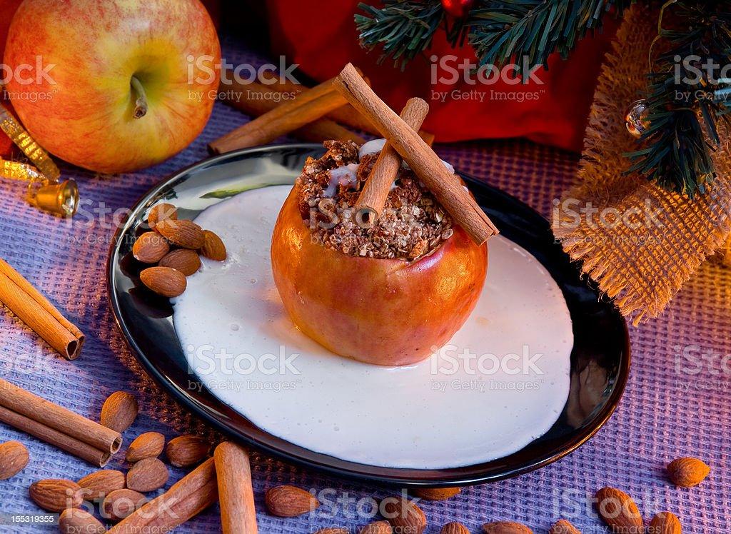 Stuffed cinnamon apple royalty-free stock photo