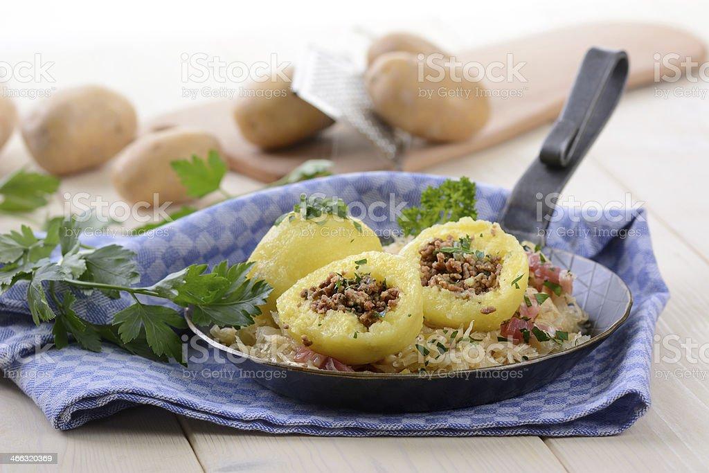 Stuffed dumplings stock photo
