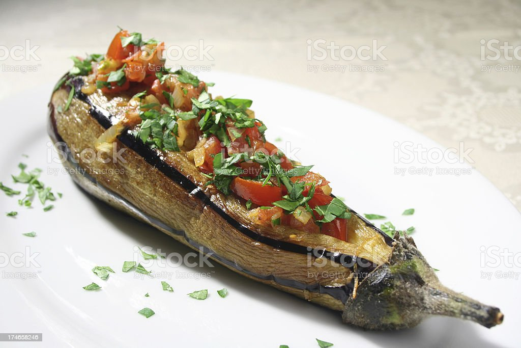 Stuffed Eggplant royalty-free stock photo