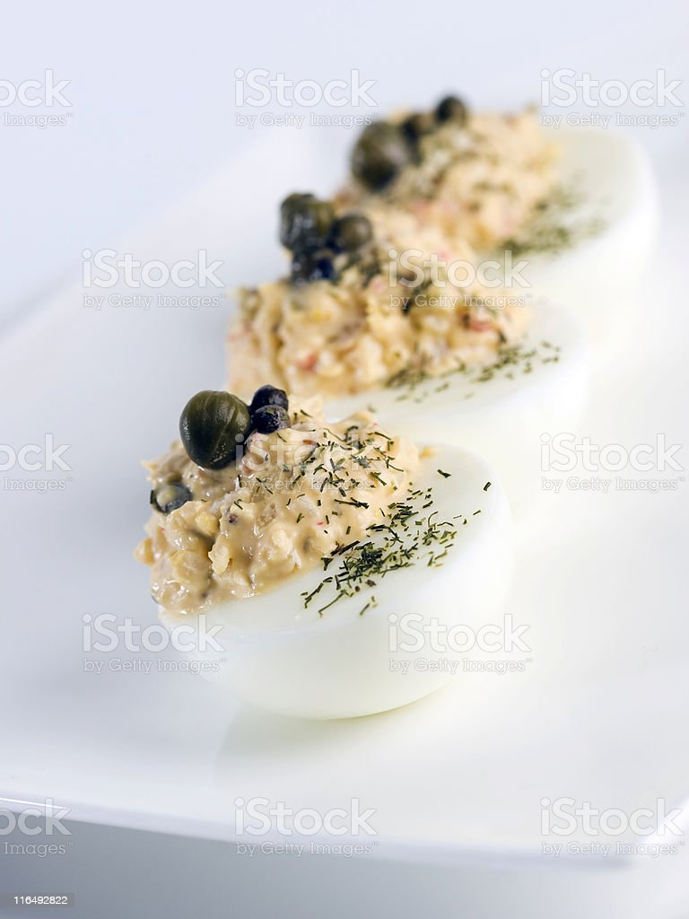 Stuffed eggs royalty-free stock photo