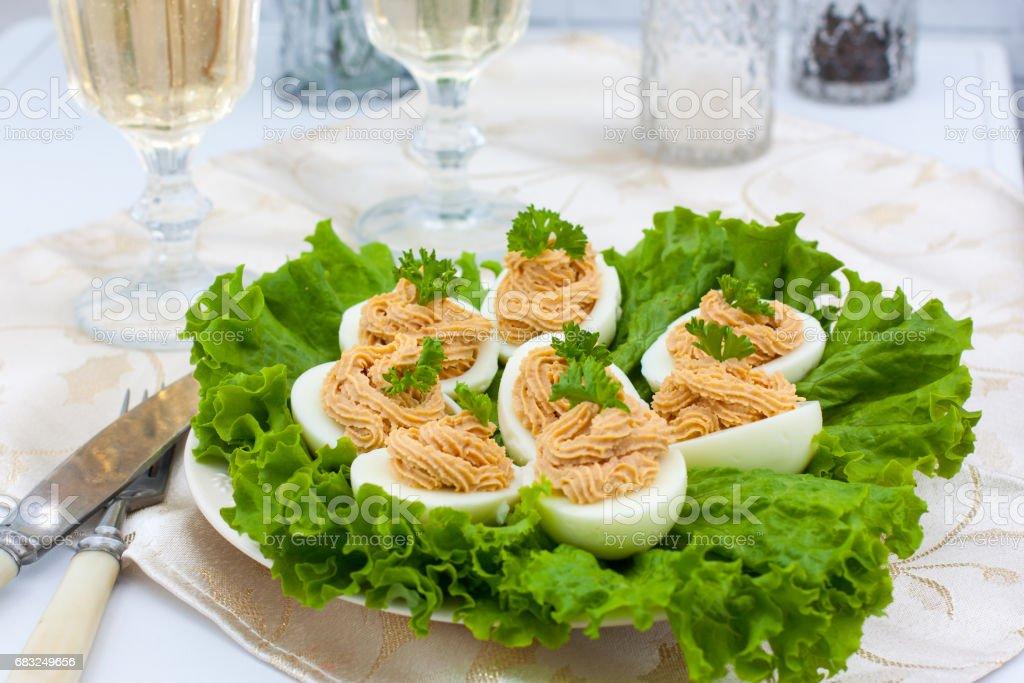 Stuffed eggs 免版稅 stock photo