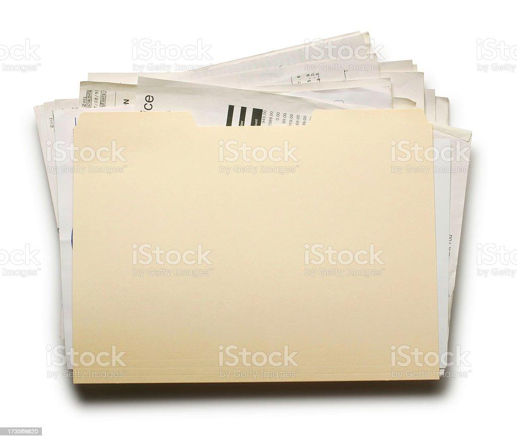 Stuffed File Folder 2 stock photo