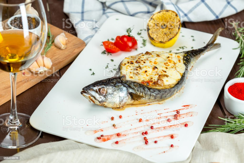 stuffed fish royalty-free stock photo