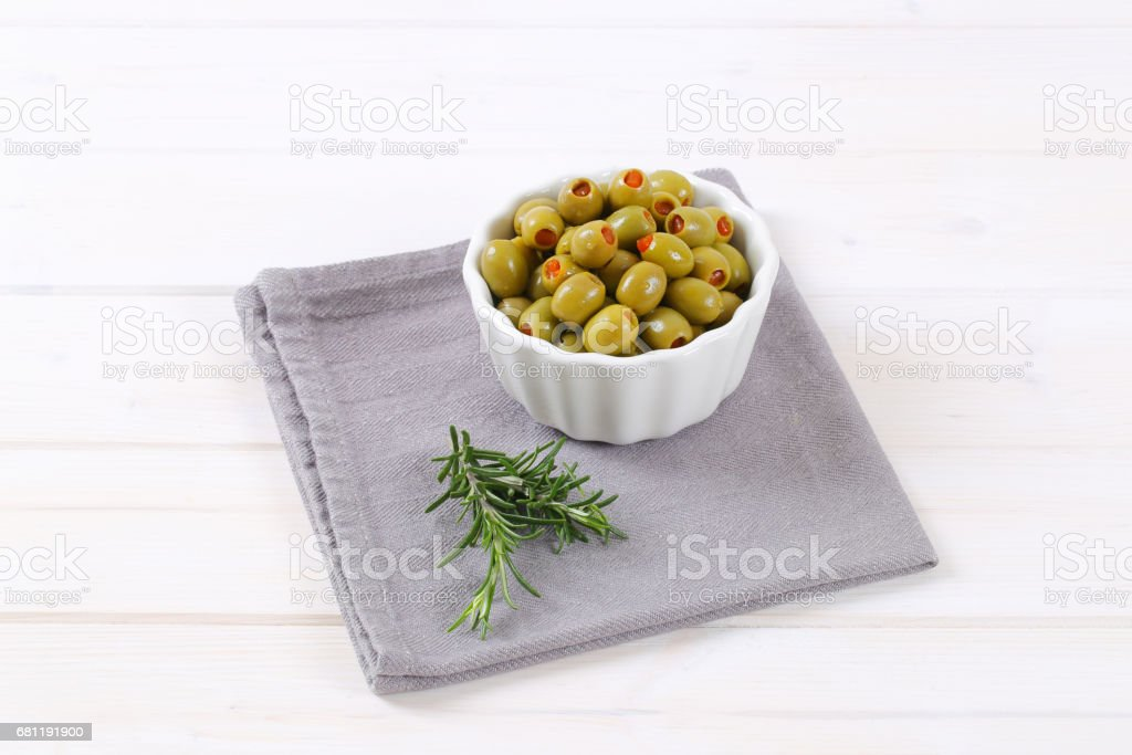 stuffed green olives royalty-free stock photo