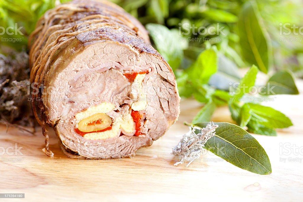 Stuffed meat royalty-free stock photo