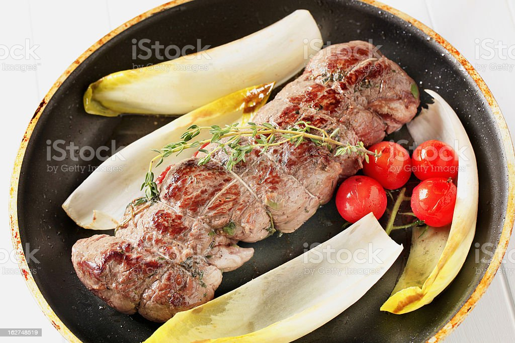 Stuffed meat roulade royalty-free stock photo