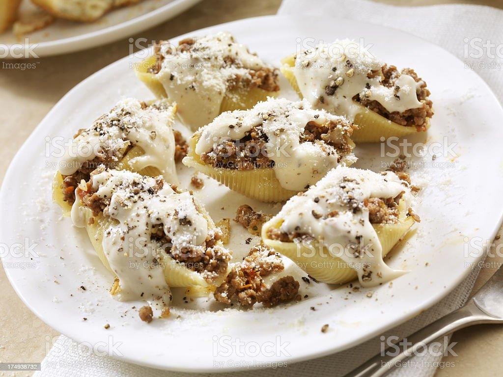 Stuffed Pasta Shells royalty-free stock photo