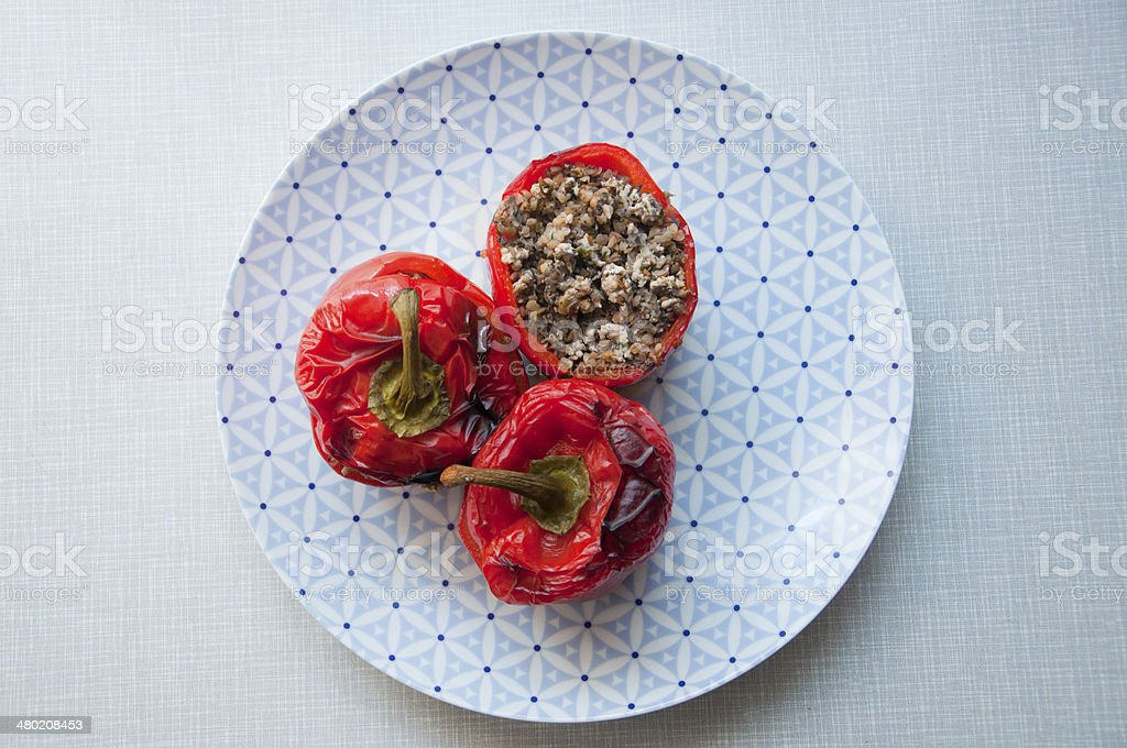 Stuffed pepper royalty-free stock photo