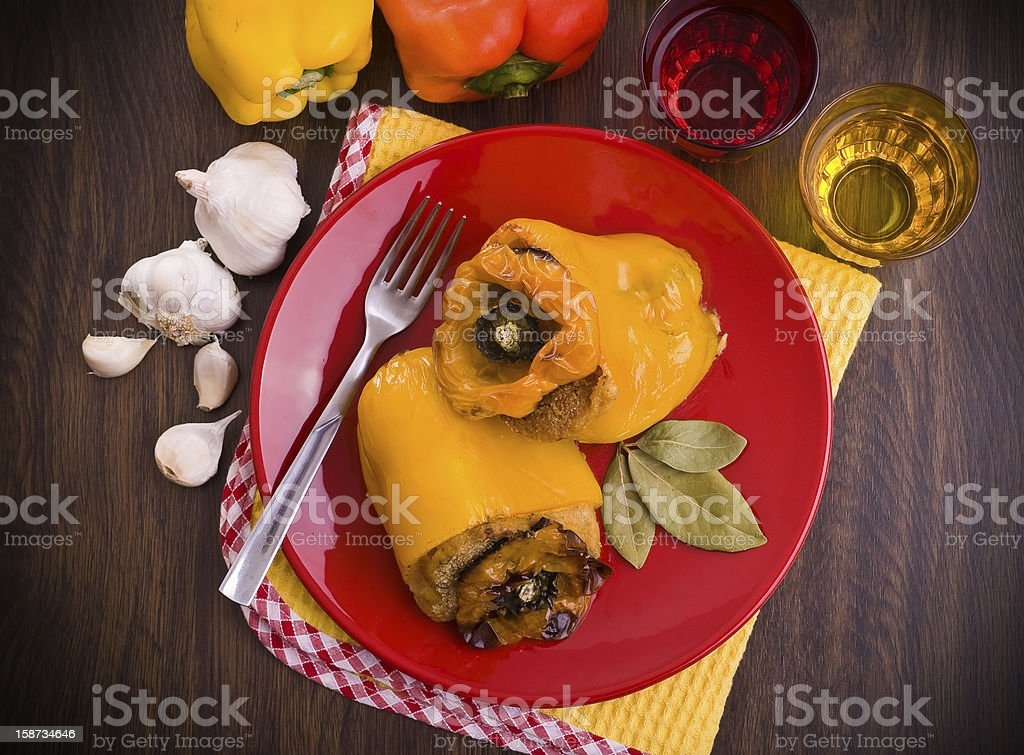 Stuffed peppers. royalty-free stock photo