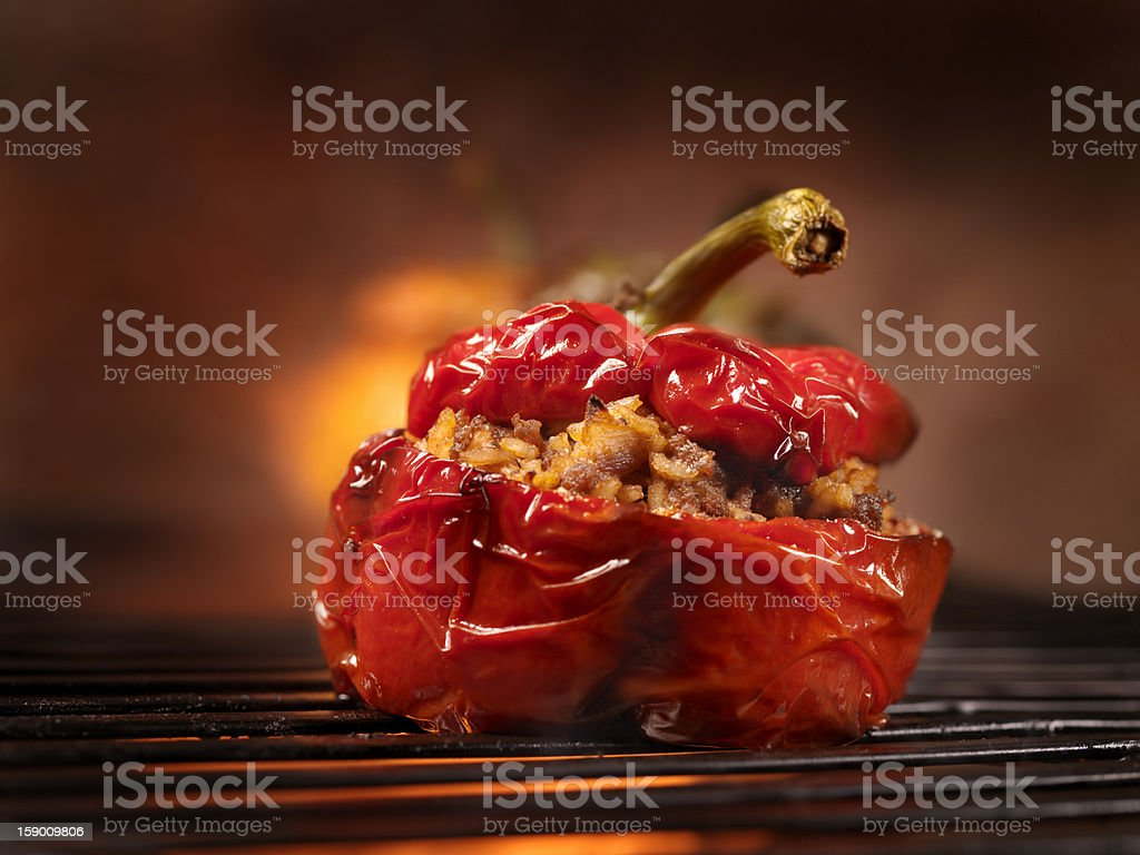 BBQ Stuffed Peppers royalty-free stock photo