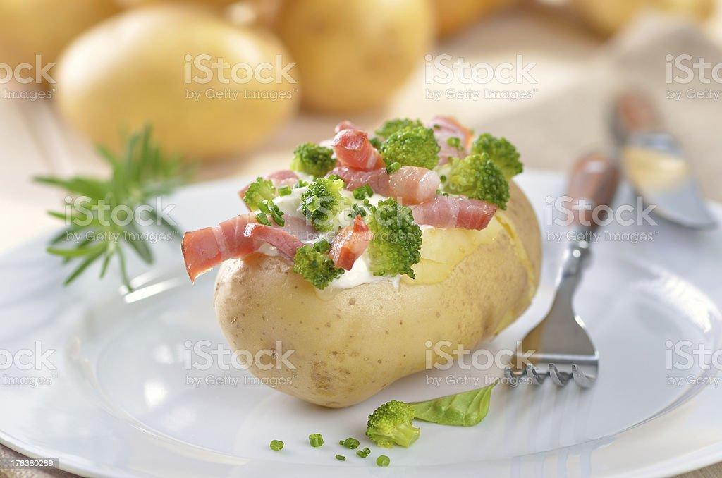 Stuffed potato stock photo