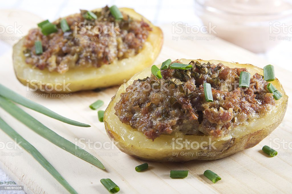 Batatas recheada - foto de acervo