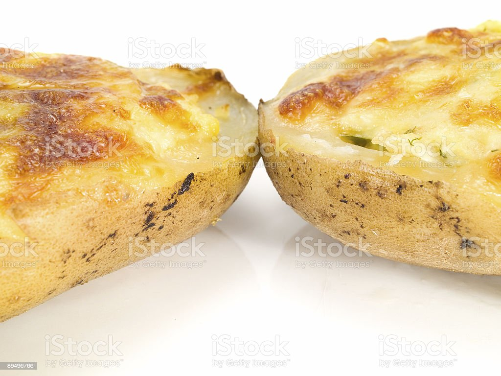 Stuffed Potatos with Cheese royalty-free stock photo