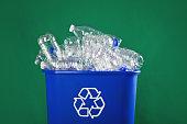 istock Stuffed Recycling Bin 883173836