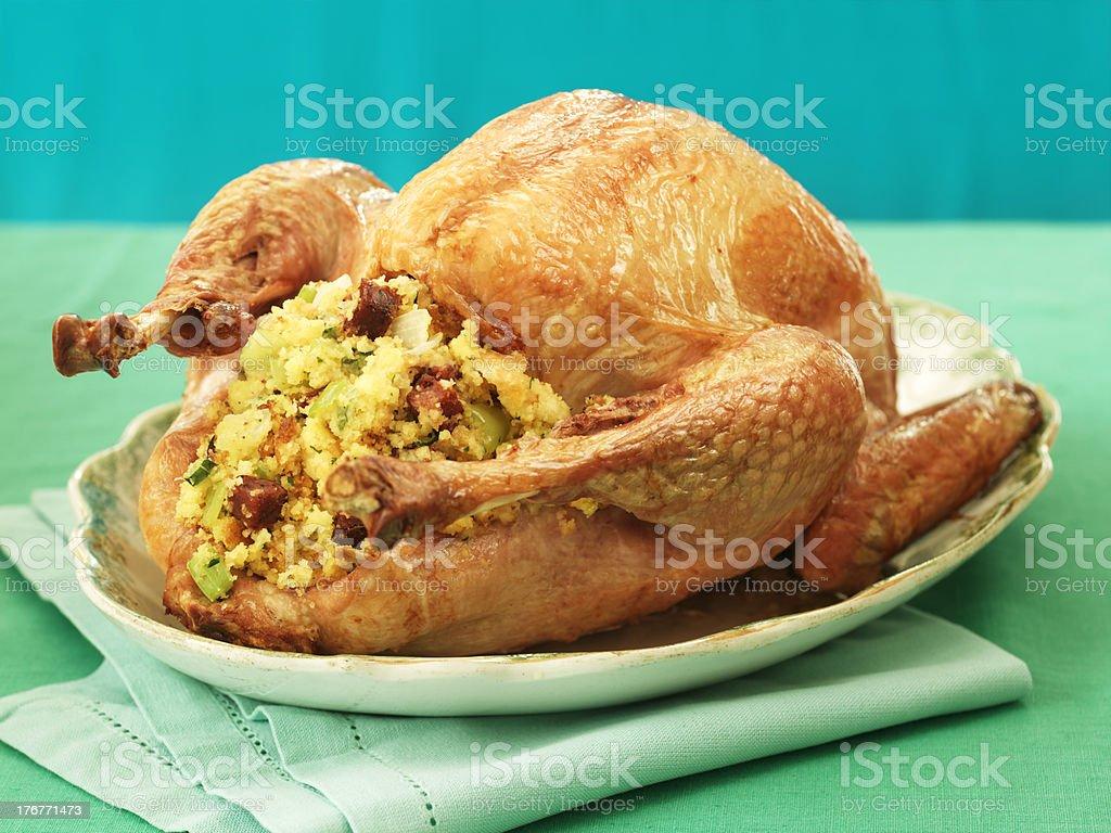 Stuffed Roast Turkey stock photo