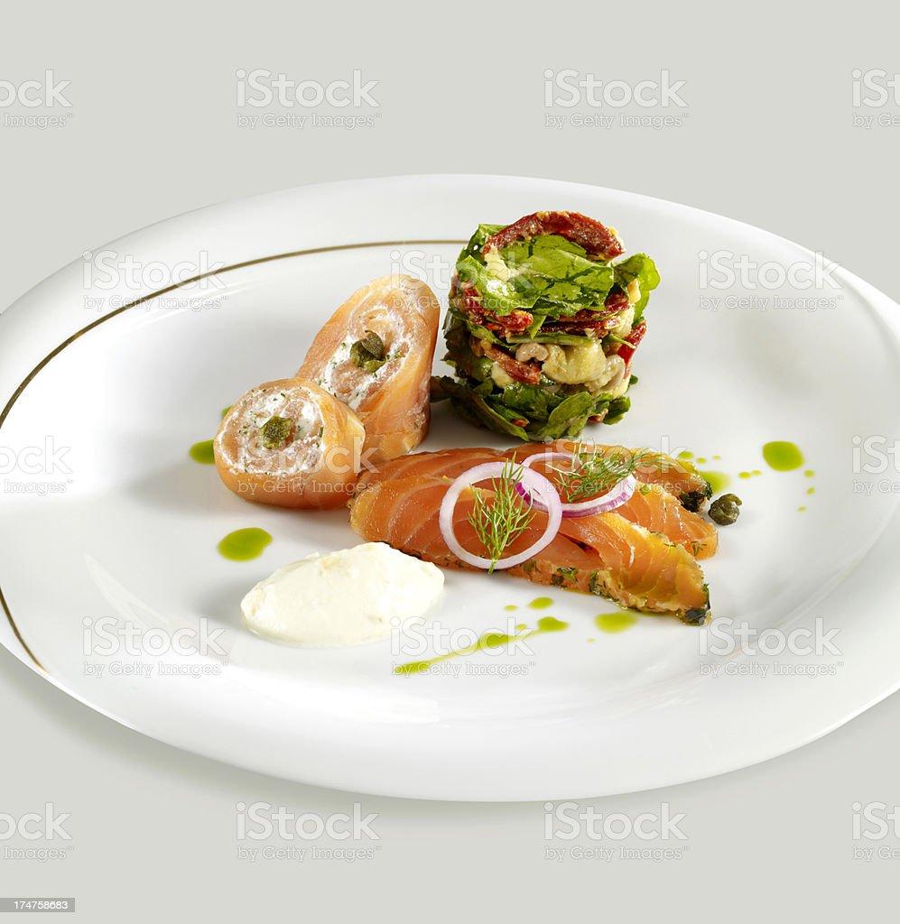 Stuffed Salmon royalty-free stock photo