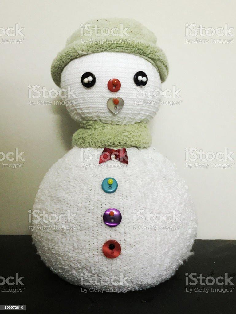 marionnette peluche bonhomme de neigechaussette – photos et plus d
