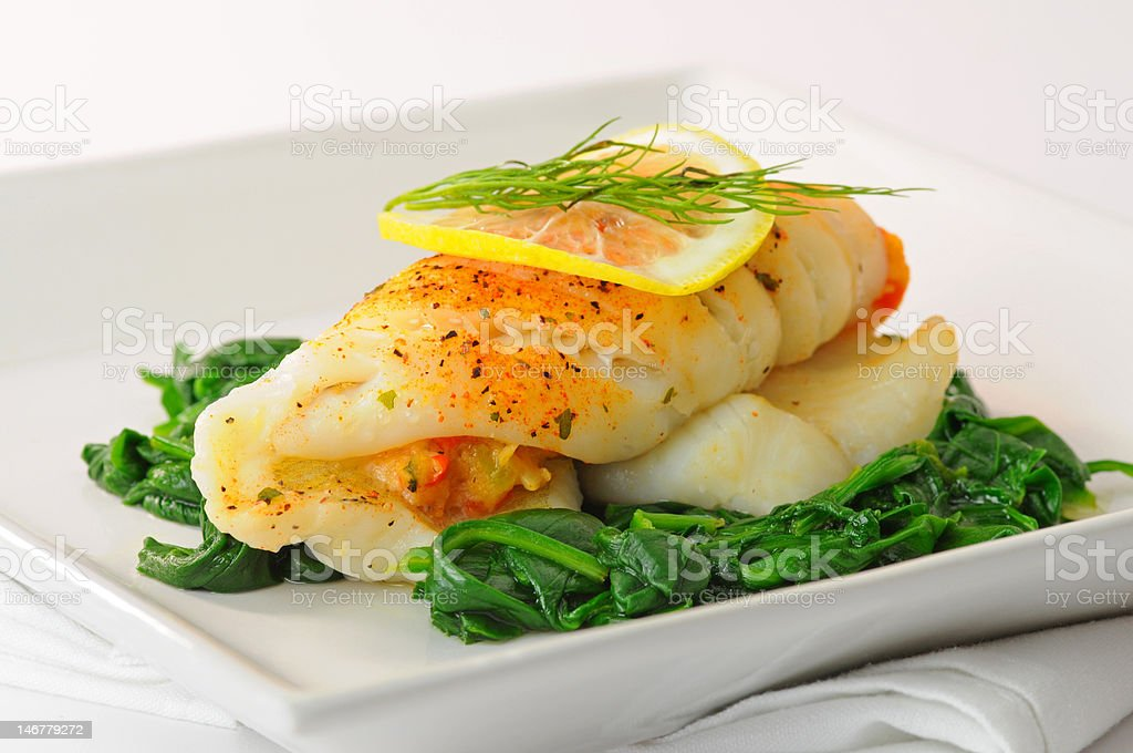 Stuffed Sole stock photo
