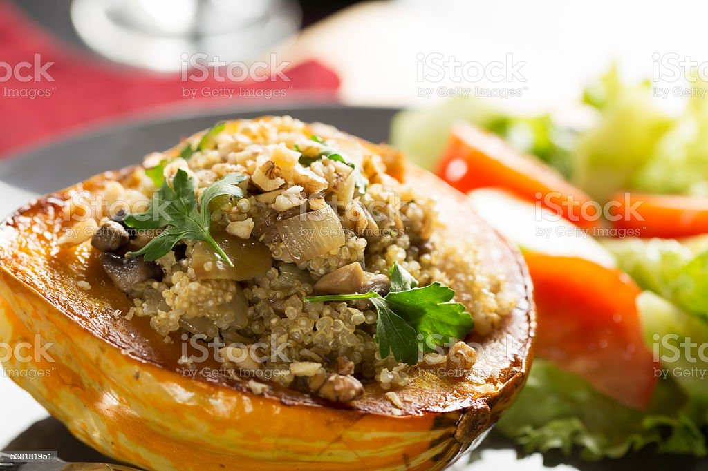 Stuffed Squash Meal stock photo