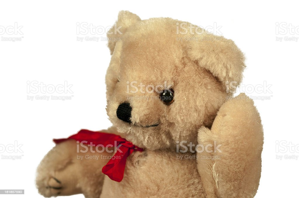 Stuffed Teddy Bear Isolated on a Pure White Background royalty-free stock photo
