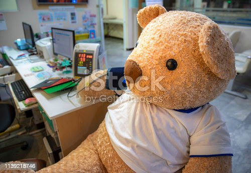 istock A  stuffed toy bear sitting in the clinic 1139218746