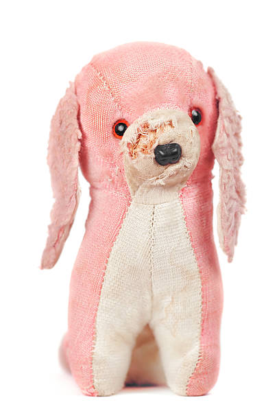 stuffed toy dog stock photo