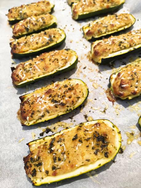 Stuffed zucchini stock photo