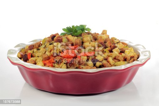 A meatless/vegetarian version of holiday stuffing