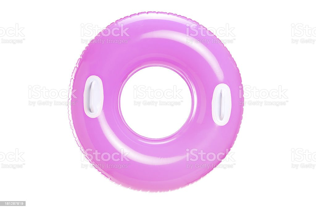 Stufio shot of a pink swimming ring royalty-free stock photo