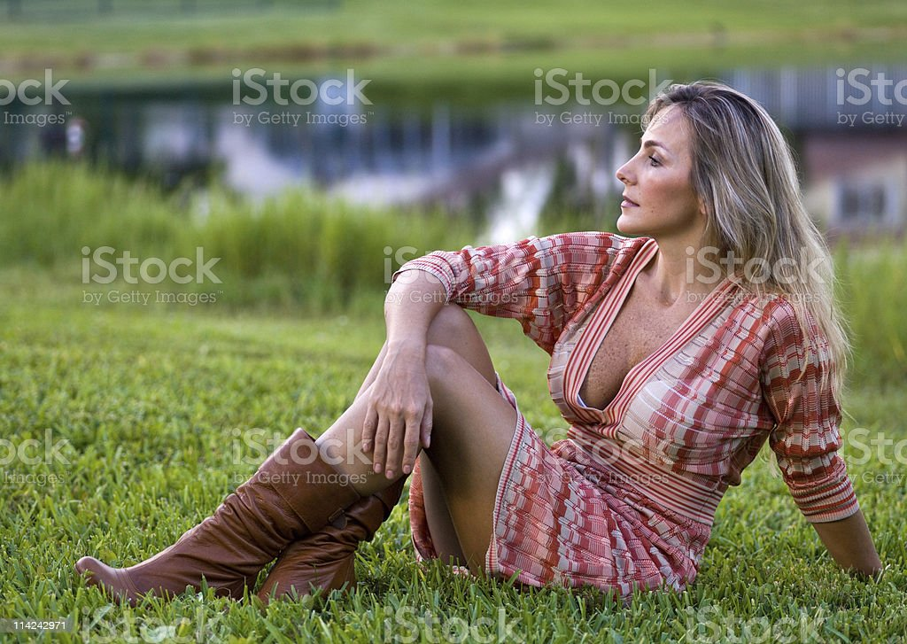 Stunning At Her Forties Stock Photo & More Pictures Of 40