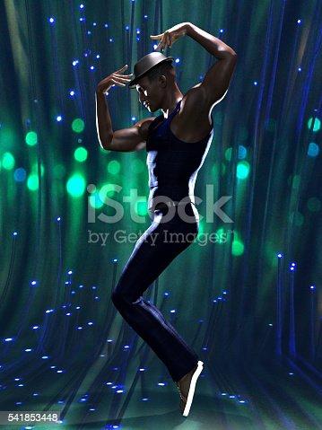 istock Stunning black male dancer 541853448