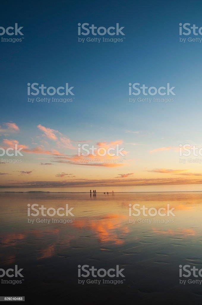 Stunning Broome sunset stock photo