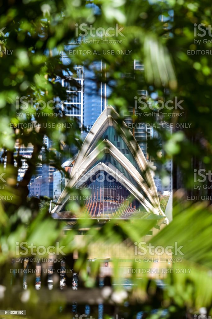Stunning detail view of the Sydney Opera House stock photo