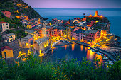 istock Stunning fishing village with colorful houses at evening, Vernazza, Italy 1176284367