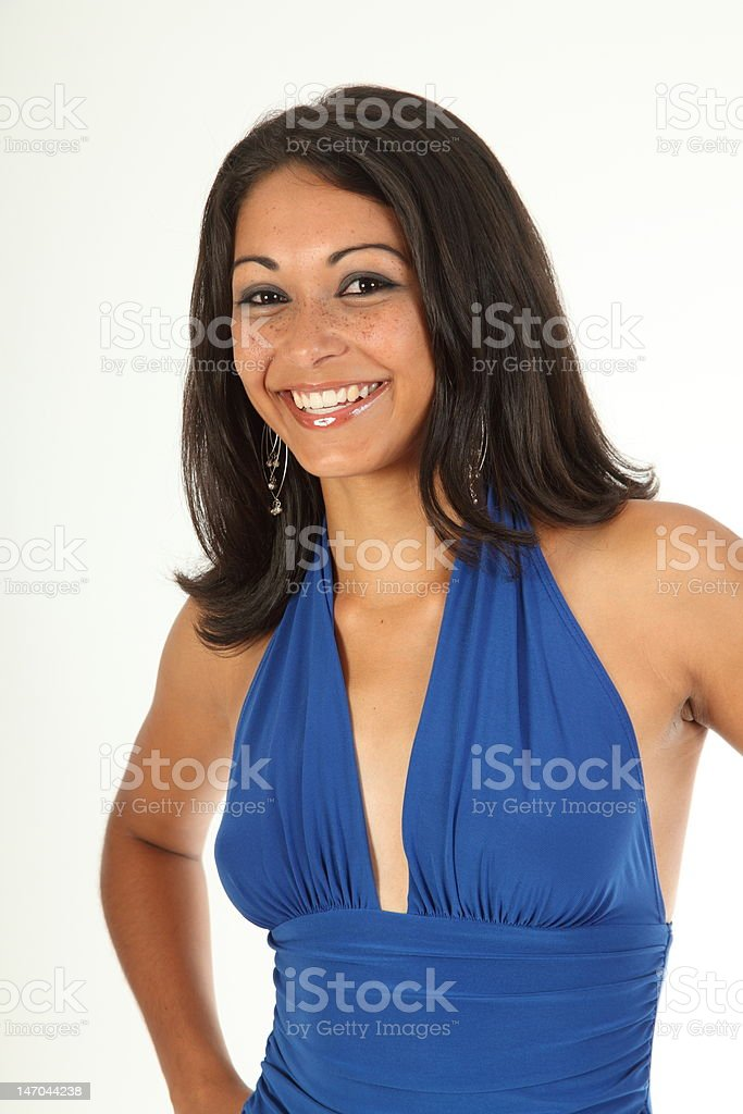 Stunning girl with matching smile stock photo
