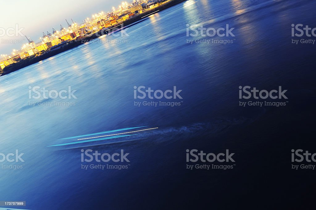 stunning harbor hamburg royalty-free stock photo