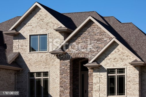 istock Stunning Home With Brick and Stone Facade 176106122