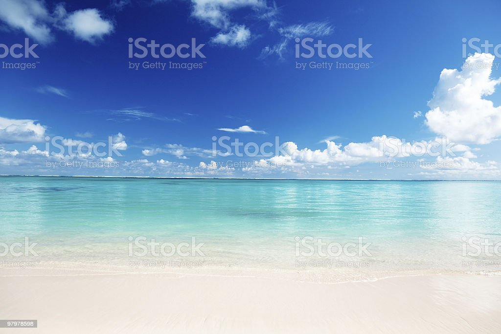 A stunning image of the Caribbean sand and sea royalty-free stock photo