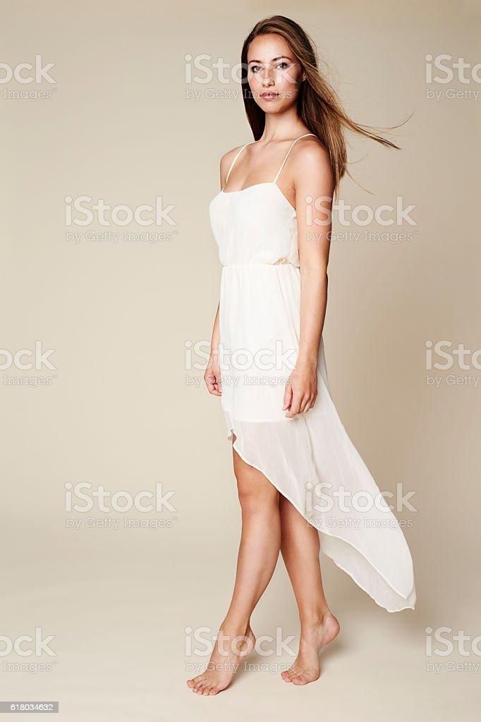 Stunning in white stock photo