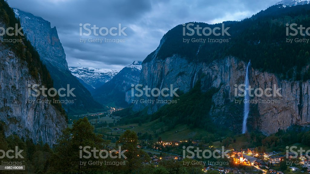 Stunning landscape in Swiss stock photo