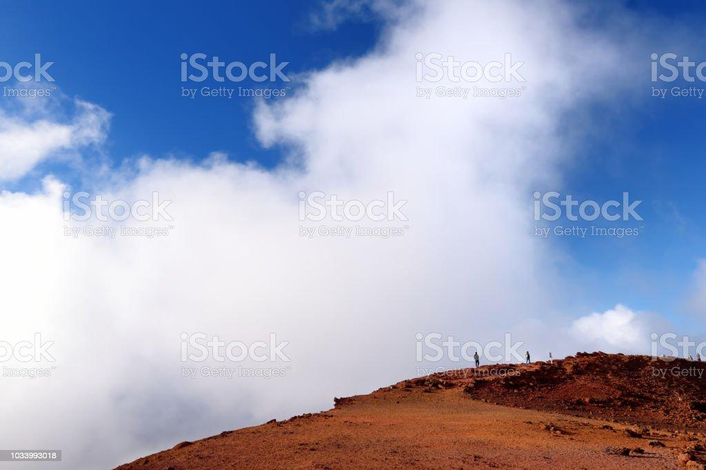 Stunning landscape view of Haleakala volcano area seen from the summit. Maui, Hawaii stock photo