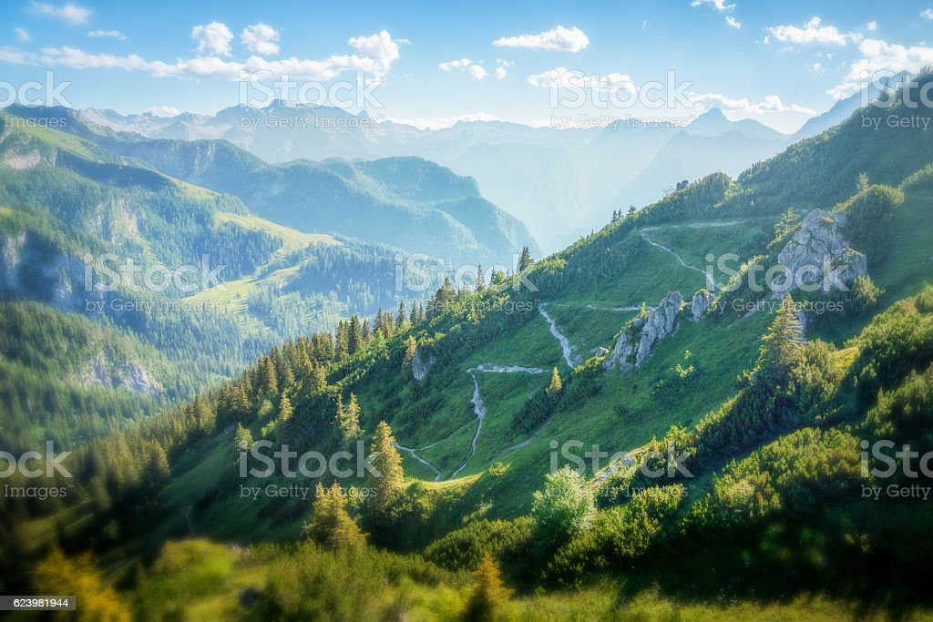 Stunning Landscape with Mountain Range stock photo