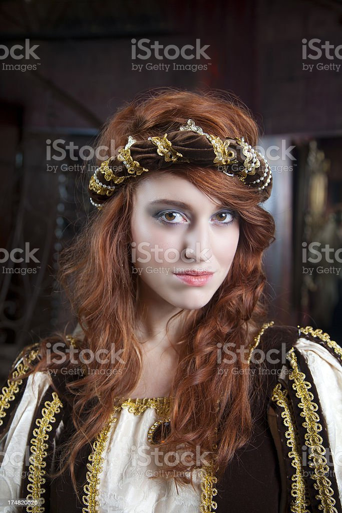 Stunning Medieval Redhead royalty-free stock photo