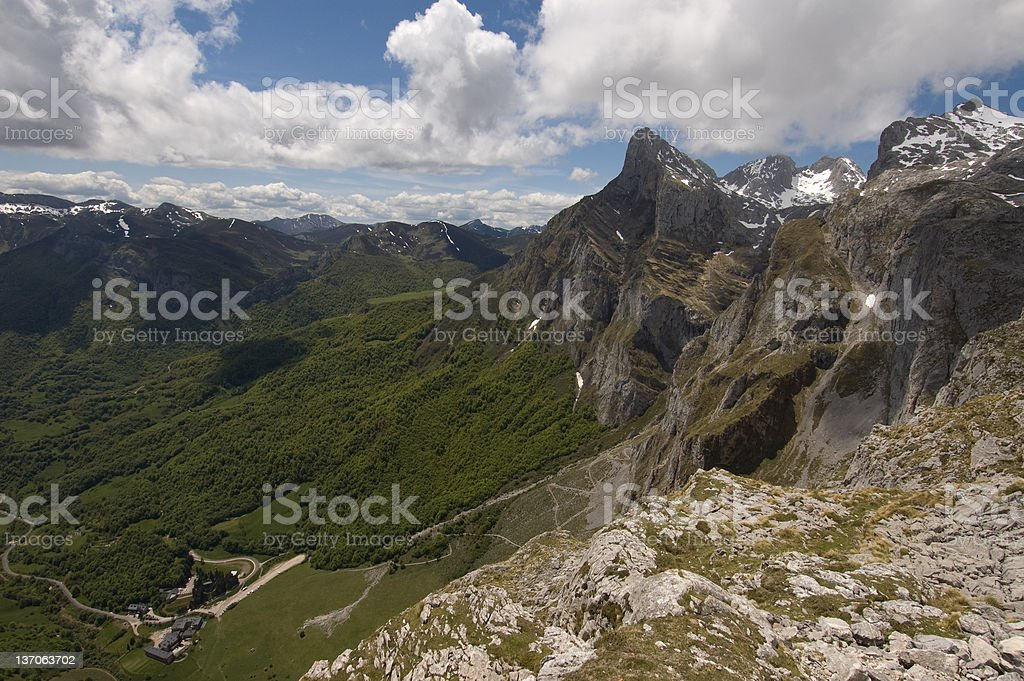 Stunning Peaks of Northern Spain royalty-free stock photo