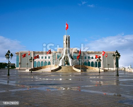 Parliament building+National Monument in Tunis
