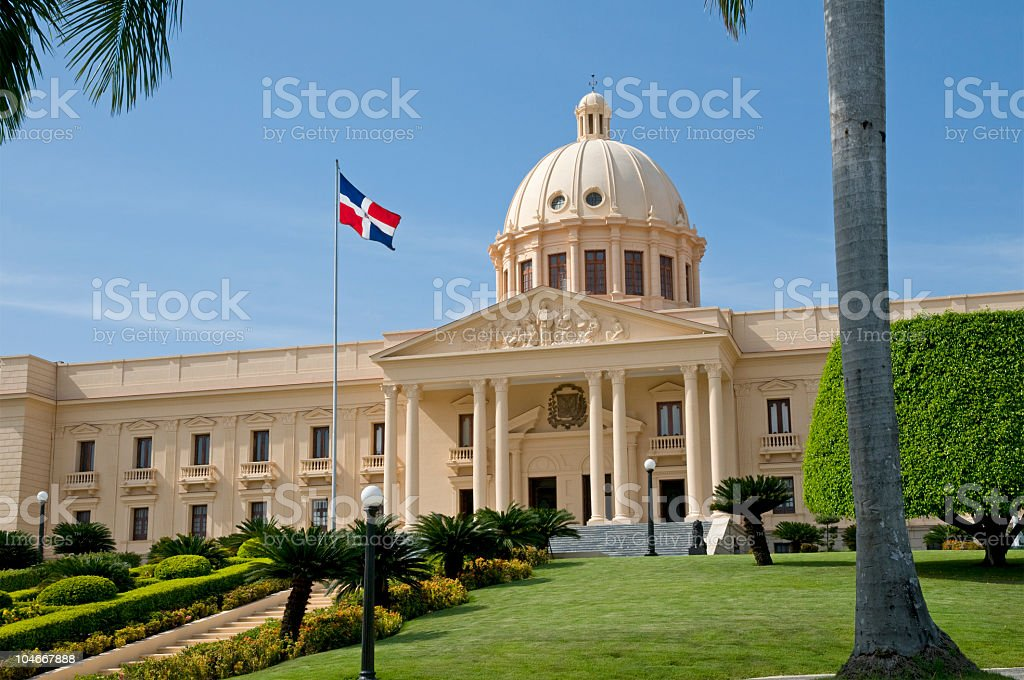 Stunning photograph of the National Palace, Santo Domingo stock photo