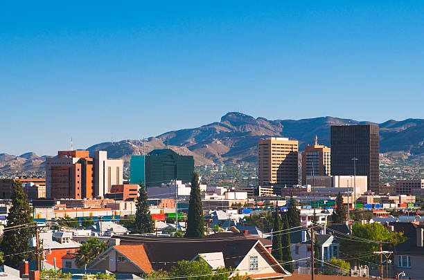A stunning picture of El Paso's skyline stock photo