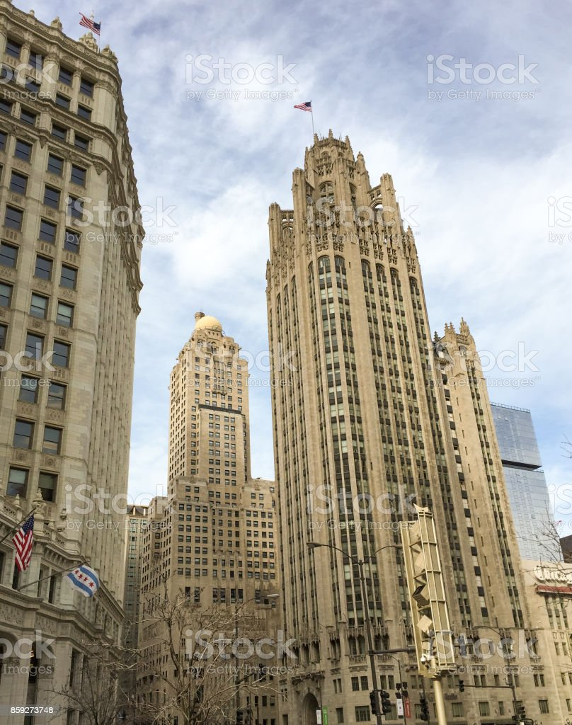 Stunning pictures of the landscape of Chicago stock photo